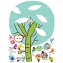 Pop and Lolli Chirpie Tree Fabric Wall Decals