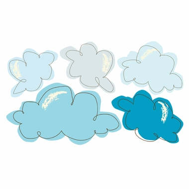 Pop and Lolli Cotton Candy Clouds Fabric Wall Decals