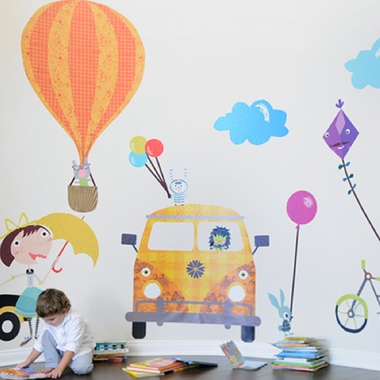 Pop and Lolli Fun Times Playful Accessories Fabric Wall Stickers