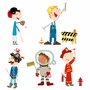 Pop and Lolli Funky and Fun Fit Me Out Boy Accessories Fabric Wall Stickers