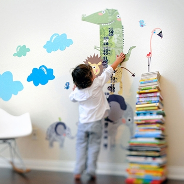 Pop and Lolli How Tall Am I Height Chart Fabric Wall Stickers