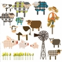 Pop and Lolli The Fashion Farm Gang Fabric Wall Decals