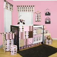 Prep School Pink Crib Bedding Collection by Trend Lab