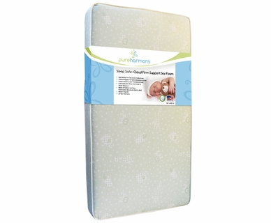 Pure Harmony Sleep Safe: Cloud Firm Support Soy Foam Crib Mattress
