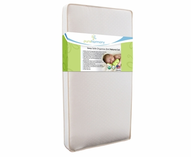 Pure Harmony Sleep Safe Organics 2 in 1 Natural Coil Crib Mattress
