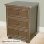 Relics Beadboard 3 Drawer Nightstand