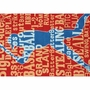 Rug Market Batter Up 2.8 x 4.8 Kids Rug in Red/Blue