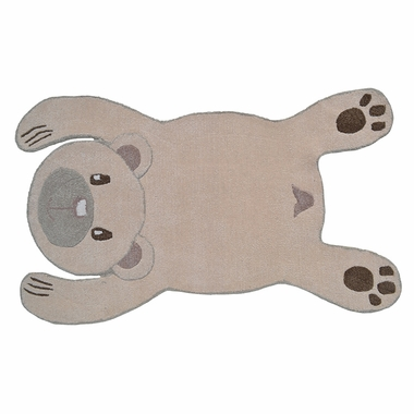 Rug Market Bear Shaped Rug in Beige/Brown
