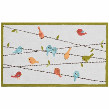 Rug Market Birds on a Wire 2.8 x 4.8 Kids Rug in Multi Colors