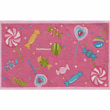 Rug Market Candy Store Kids Rug in Fuchsia/Pink/Green