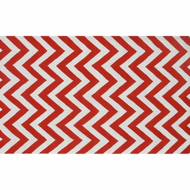 Rug Market Chevron Kids Area Rug in Red/White - Click to enlarge
