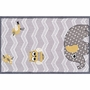 Rug Market Eleph and Bird Kids Rug in Yellow/Gray/White