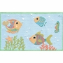 Rug Market Fish Party 2.8 x 4.8 Kids Rug in Blue/Red/White