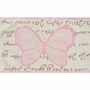 Rug Market French Butterfly Kids Rug in Cream/Pink/Brown