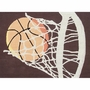 Rug Market Hoops 2.8 x 4.8 Kids Rug in Brown/Cream/Orange