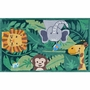 Rug Market Jungle Party 2.8 x 4.8 Kids Rug in Green/Gray/Brown