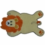 Rug Market Lion Shaped Rug in Gold/Orange