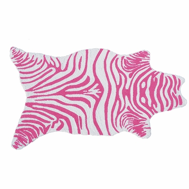 Rug Market Mini Zebra Area Rug in Pink/White - Click to enlarge