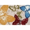 Rug Market Monarch Butterflies Outdoor Rug in Red/Blue/Green