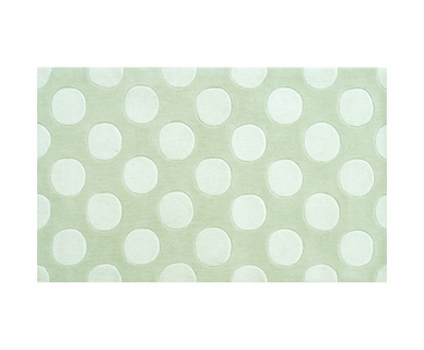 Rug Market Polka Mania Kids Rug in White/Green