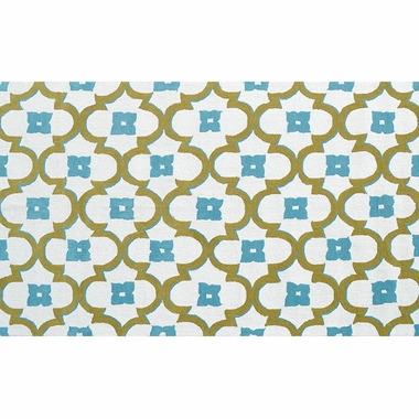 Rug Market Salisbury Outdoor Rug in Cream/Blue/Green