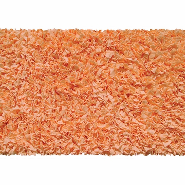 Rug Market Shaggy Raggy Kids Rug in Tangerine - Click to enlarge