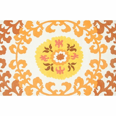 Rug Market Suzani Gold Rug in Yellow/Gold/White - Click to enlarge