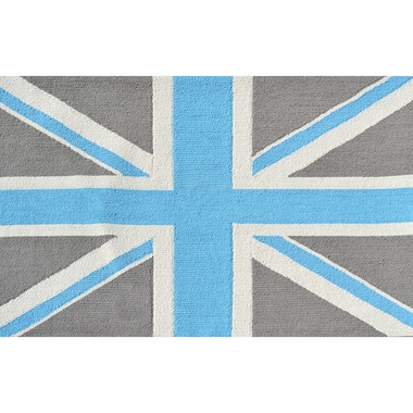 Rug Market Union Jack 2.8 x 4.8 Kids Rug in Gray/Blue - Click to enlarge