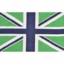 Rug Market Union Jack 2.8 x 4.8 Kids Rug in Green/Navy