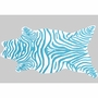 Rug Market Zebra Teal Shaped Rug