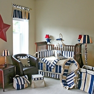 Rugby Crib Bedding Collection by Hoohobbers