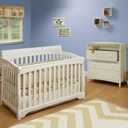 Sb2 Florence 4 In 1 Convertible Crib In White Free Shipping