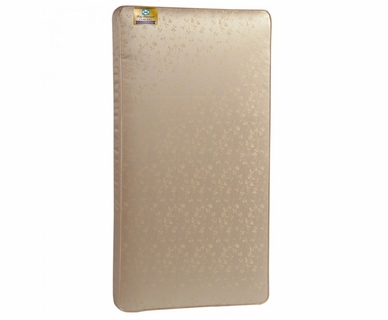 Sealy Baby Posturepedic Crown Jewel Luxury Firm Baby Crib Mattress in Gold Jaquard Leaf