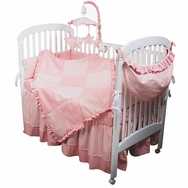 Sherbert Pink Crib Bedding Collection by Hoohobbers
