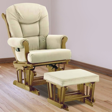 Shermag Glider And Ottoman Pecan Simply Baby Furniture