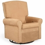 Shermag Square Back Upholstered Reclining Glider in Peat