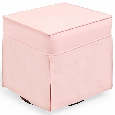 Shermag Super Smooth Glider Ottoman in Pink - Click to enlarge