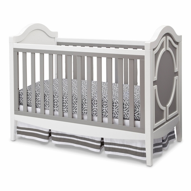 Simmons Kids Hollywood 3 in 1 Crib in White Grey FREE