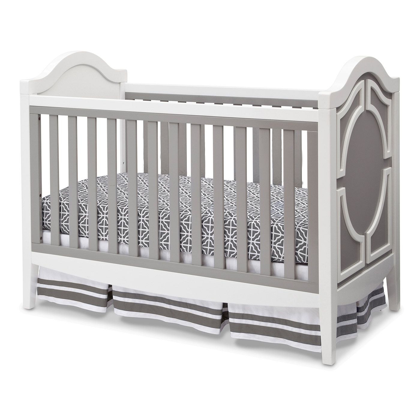 Baby cribs with matching dresser - Simmons Hollywood 3 In 1 Crib In White Grey