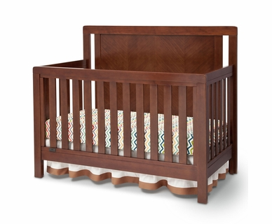 Simmons Chevron Crib 'N' More in Espresso Truffle