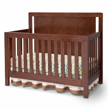 Simmons Kids Chevron Crib N More in Espresso Truffle