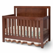 Simmons Kids Chevron Crib 'N' More in Espresso Truffle