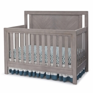 Simmons Kids Chevron Crib 'N' More in Stained Grey