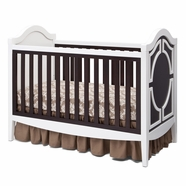 Simmons Kids Hollywood 3-in-1 Crib in White / Dark Chocolate