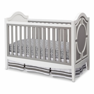 Simmons Kids Hollywood 3-in-1 Crib in White / Grey