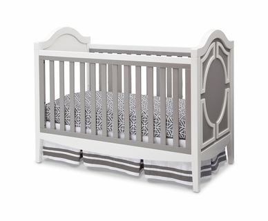Simmons Hollywood 3-in-1 Crib in White / Grey