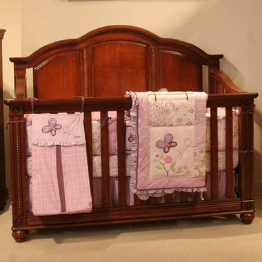 Serta Tranquility Mattress Simmons Raleigh Crib 'N' More Convertible Crib in Deep River Cherry ...