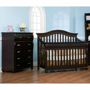 Simmons Vancouver Crib 'N' More Convertible Crib & 6 Drawer Chest in Labrosse Cherry