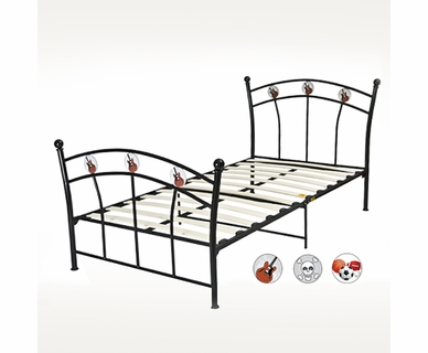 Sleep Harmony Glideaway Youth Metal Twin Bed in Black