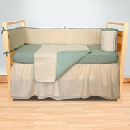 Sleeping Partners Sage Organic Waffle Weave 4 Piece Baby Crib Bedding Set